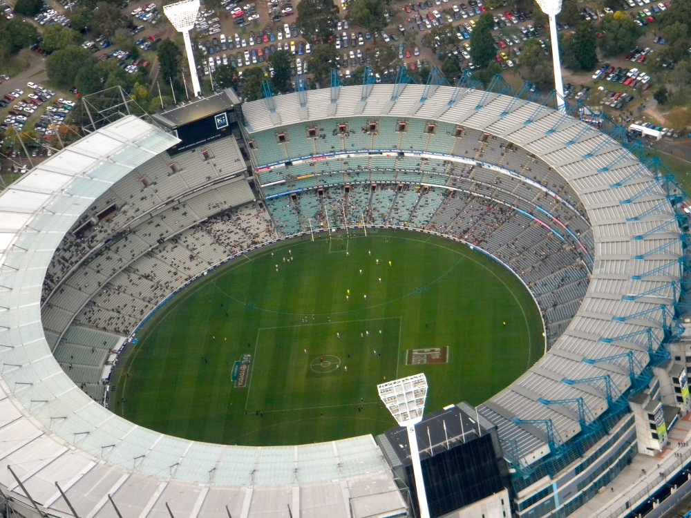 Aerial Coverage of the Melbourne Cricket Ground in Melbourne Australia by Kyle Fletcher