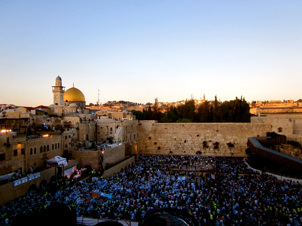 Israeli Spirit on Jerusalem Day in Israel by Stephanie Iovan