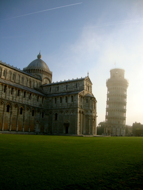 Pisa at Dawn in Pisa, Italy by Adrienne Wolf