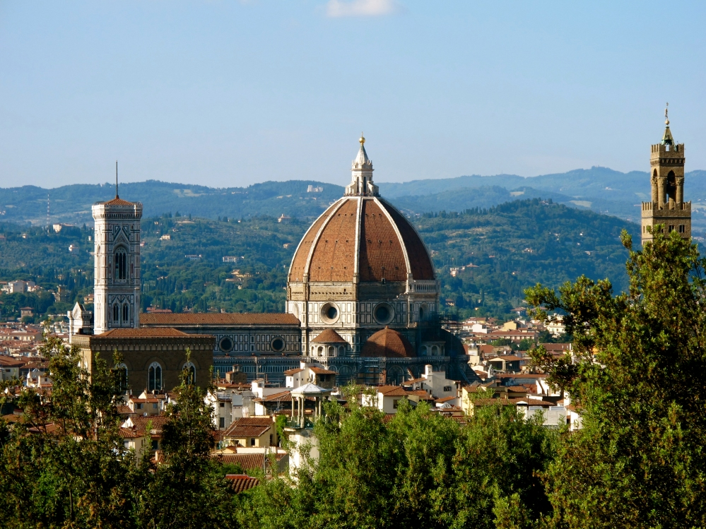 View of the Duomo from the Boboli Gardens in Florence, Italy by Rebecca Sinclaire