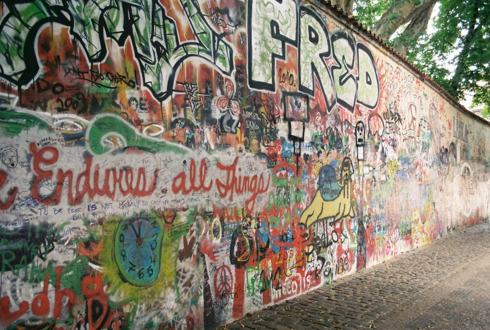 The John Lennon Wall in Prague, Czech Republic by Andrew Prout