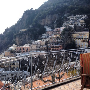 View of Positano from the balcony by Hayley Weston