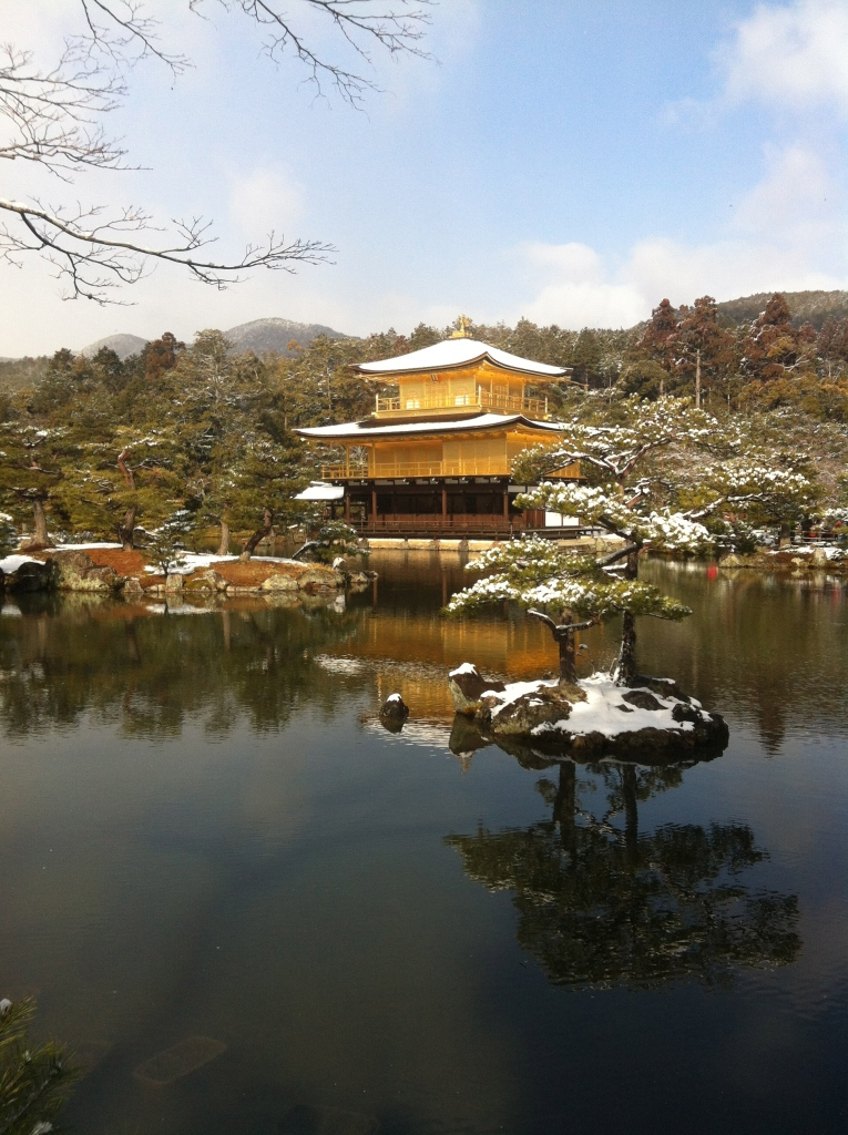 Kinkaku-ji after snowfall in Kyoto, Japan by Cameron Carson