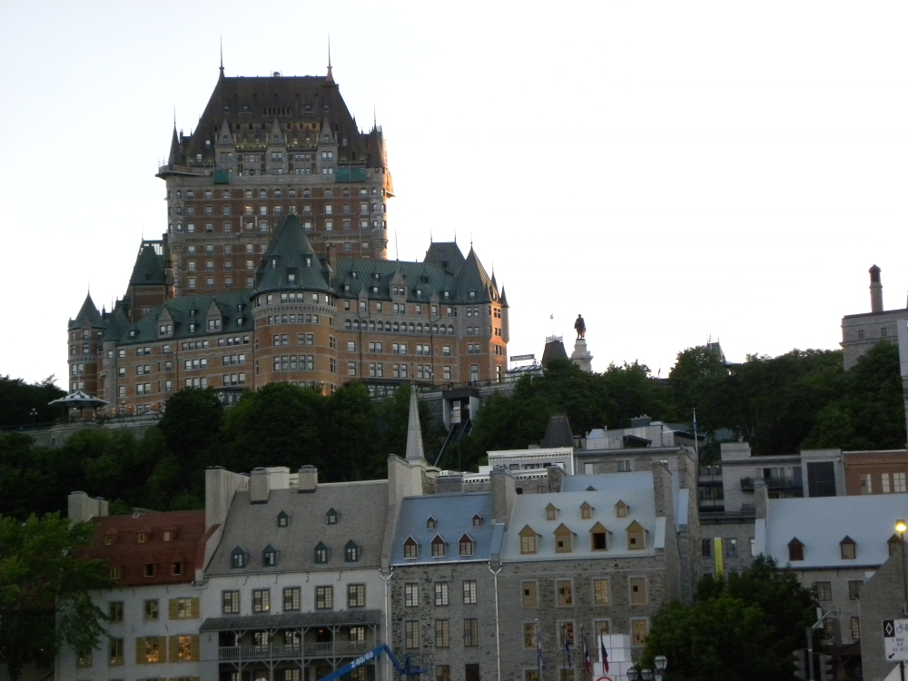 Vieux Quebec at Sunset in Quebec City, Canada by Cathrine Davis