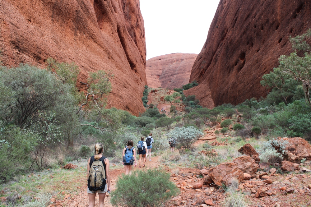 Hiking in the Outback at Ayers Rock in Australia by Courtney Gervais