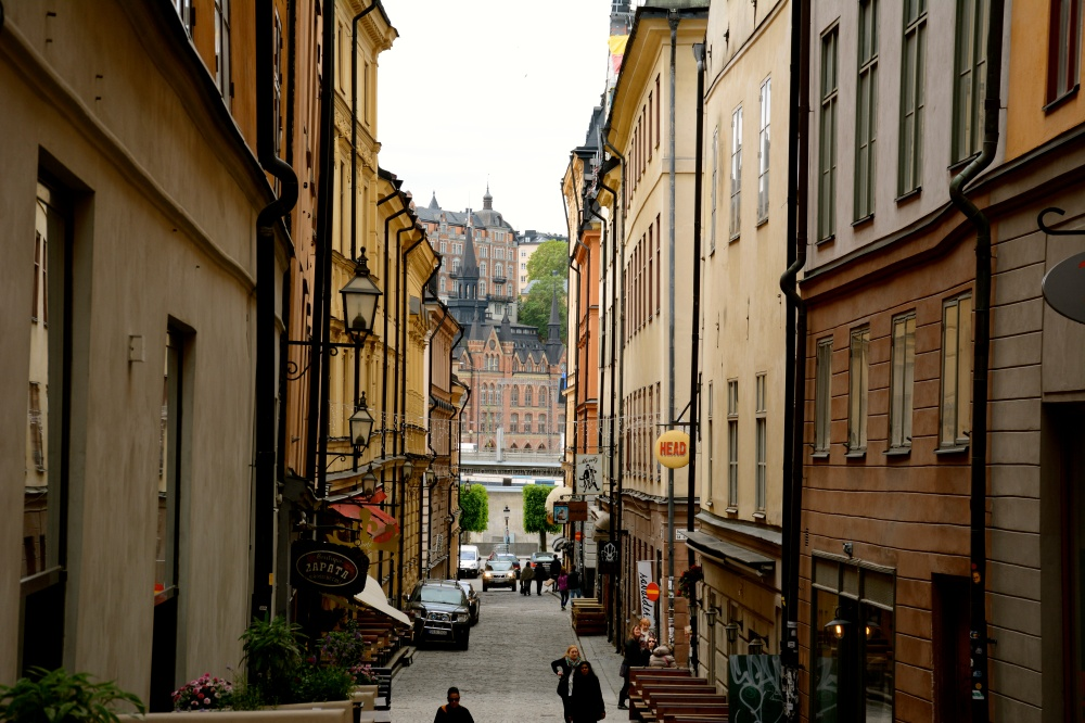 Gamla Stan, a historic shopping district in the heart of Stockholm, Sweden by Sara Hamilton