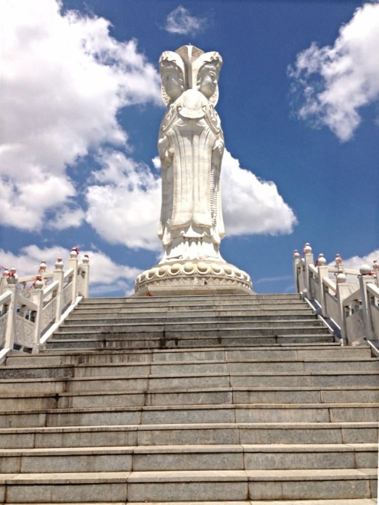 Three-Faced Buddha in Inner Mongolia, Beijing by Charisa Halboth