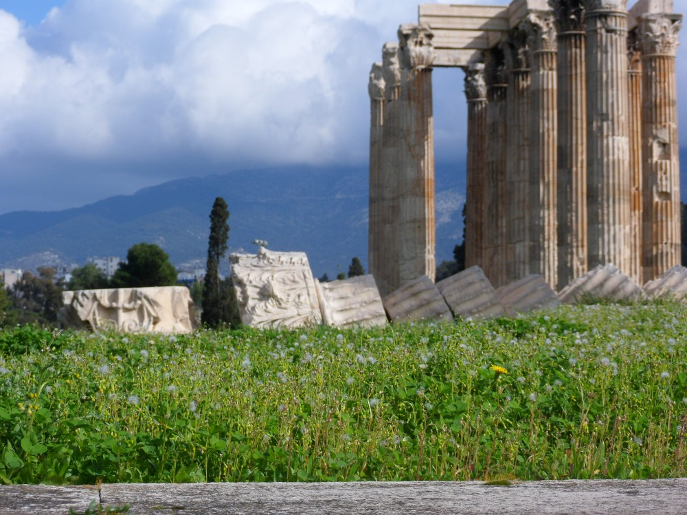 Ruins of Zeus in Athens, Greece by Ian Magnuson
