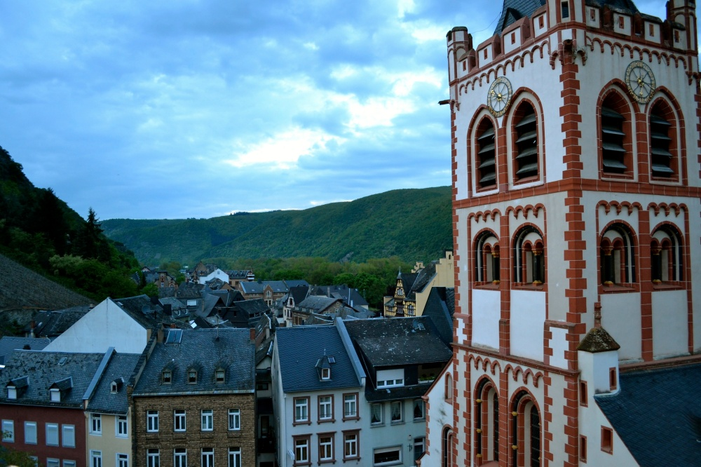 Sunset in Bacharach just off the Middle Rhein River by Jasmine Scott