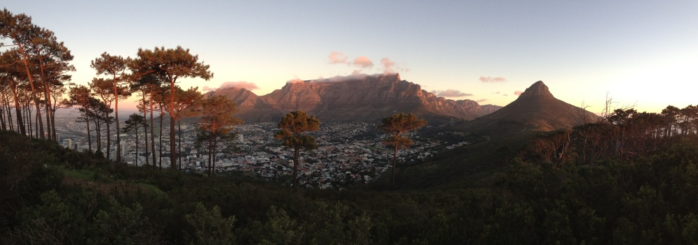 View of Cape Town and Table Mountain in South Africa by Emily Webb