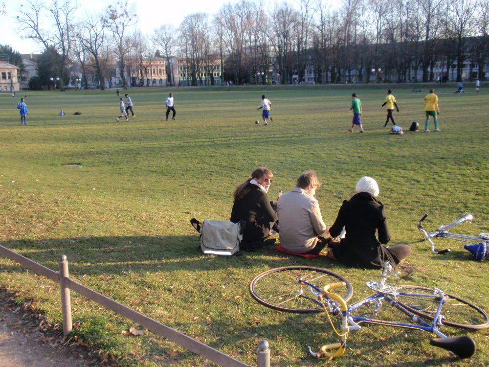 Fußball in the Hofgarten at Universität Bonn Hofgarten, Germany by Zach Kneeland