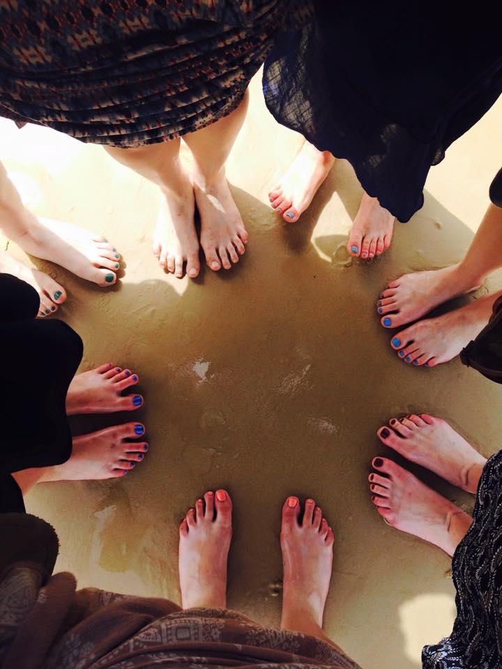 Beach feet!