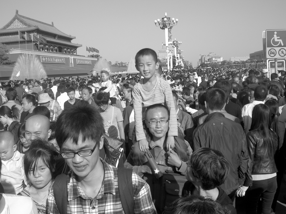 Tiananmen Square on National Day in Beijing, China by Dylan Grushoff