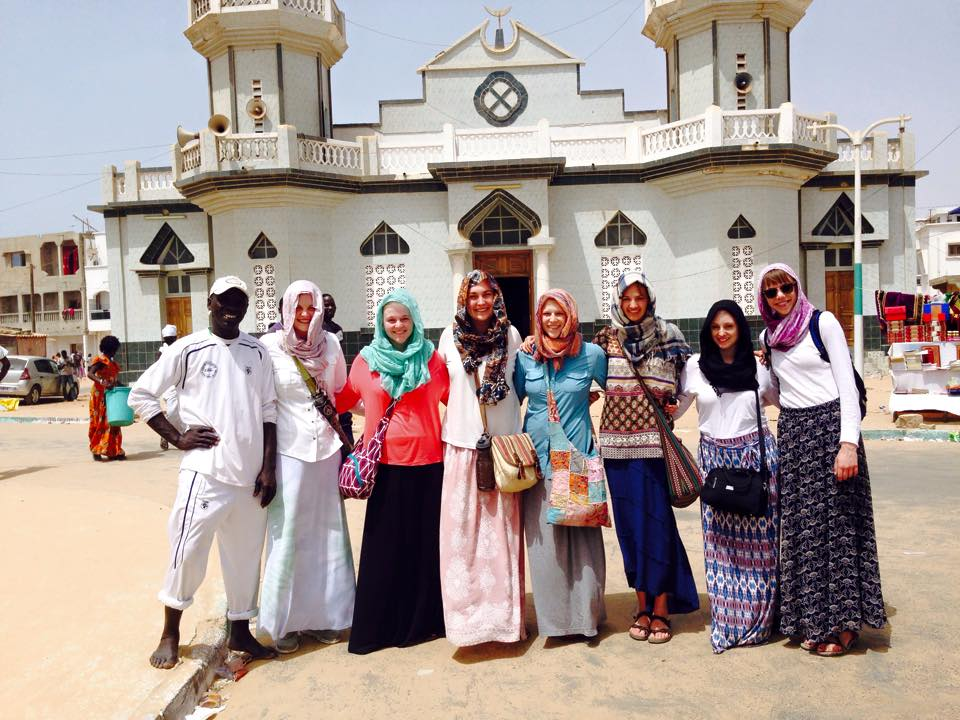 Group with Ibrahima, our guide around Yoff.