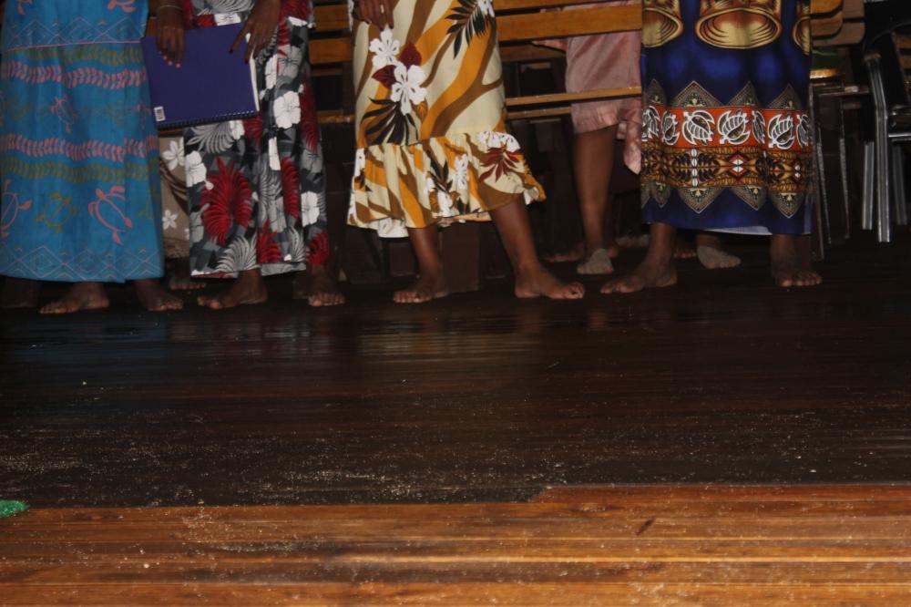 Feet in Naviti, Fiji by Katie Hickey
