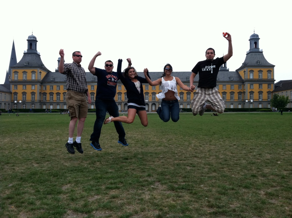 Jumping for Joy in Bonn, Germany by Anthony Heib
