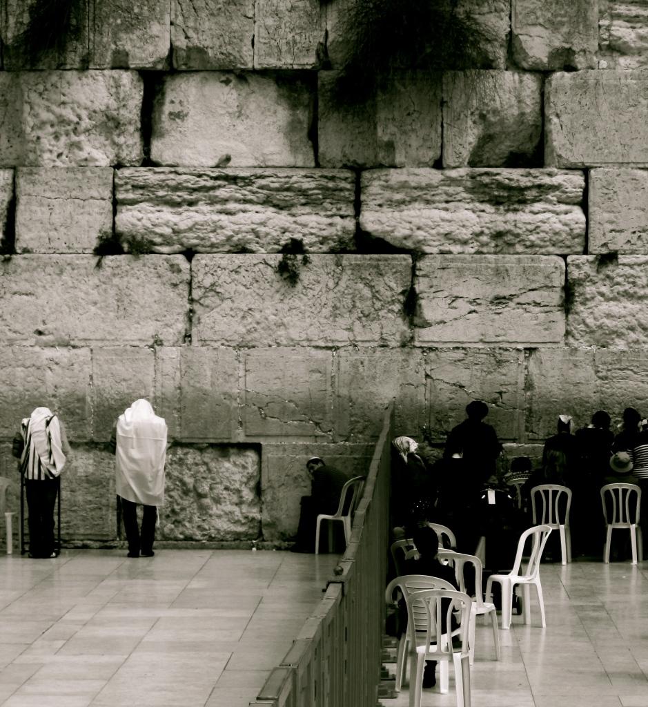 Jewish prayer at the Western Wall of Jerusalem, Israel by Stephanie Iovan