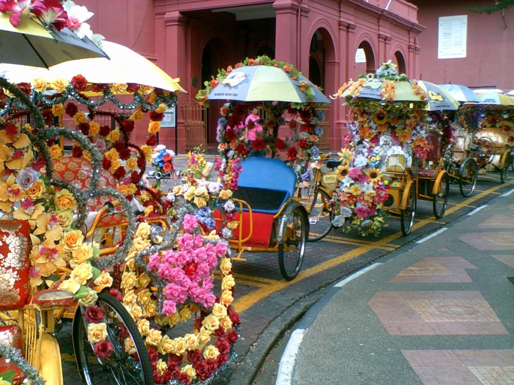 Bike Taxis in Malacca, Malaysia by Maria Bravo