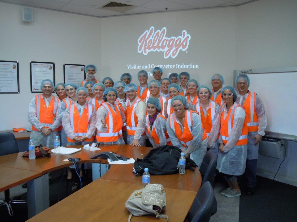 Touring the Kellogg Factory in Sydney, Australia