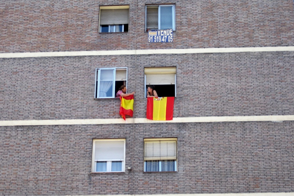 Local Patriotism in Madrid, Spain by Jacqueline Sofian
