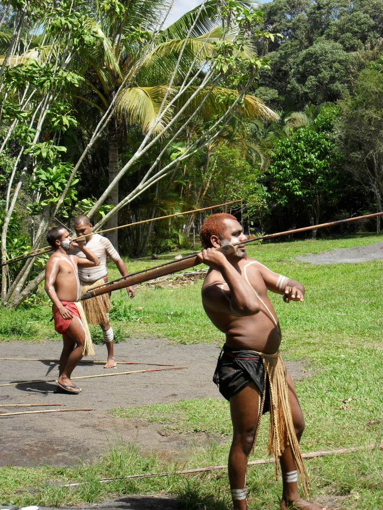 Aboriginal spear throwing demonstration in Rainforestation Nature Park in Kuranda, Queensland, Australia by Thomas Williams