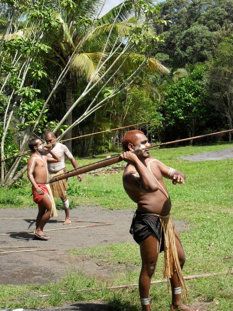 Aboriginal spear throwing demonstration in Rainforestation Nature Park in Kuranda, Queensland, Australia by Thomas Williams