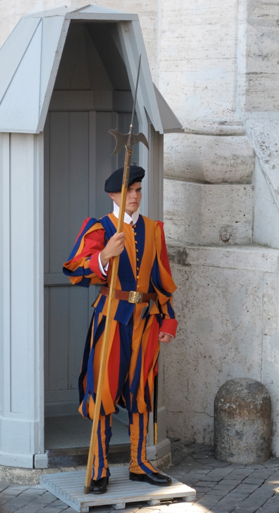 Swiss Guard of Vatican City in Rome, Italy by Rebecca Sinclaire