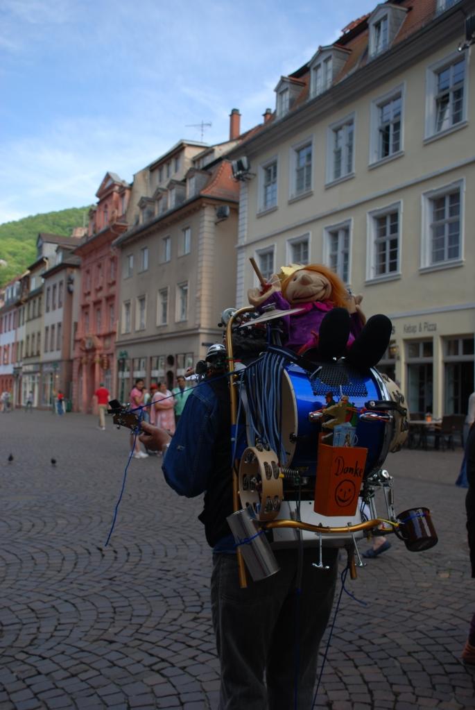 One man band in Heidelberg, Germany