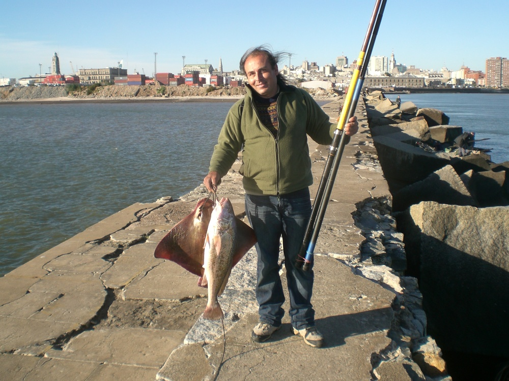 An average fishing day in Montevideo, Uruguay! by Heather Wellman