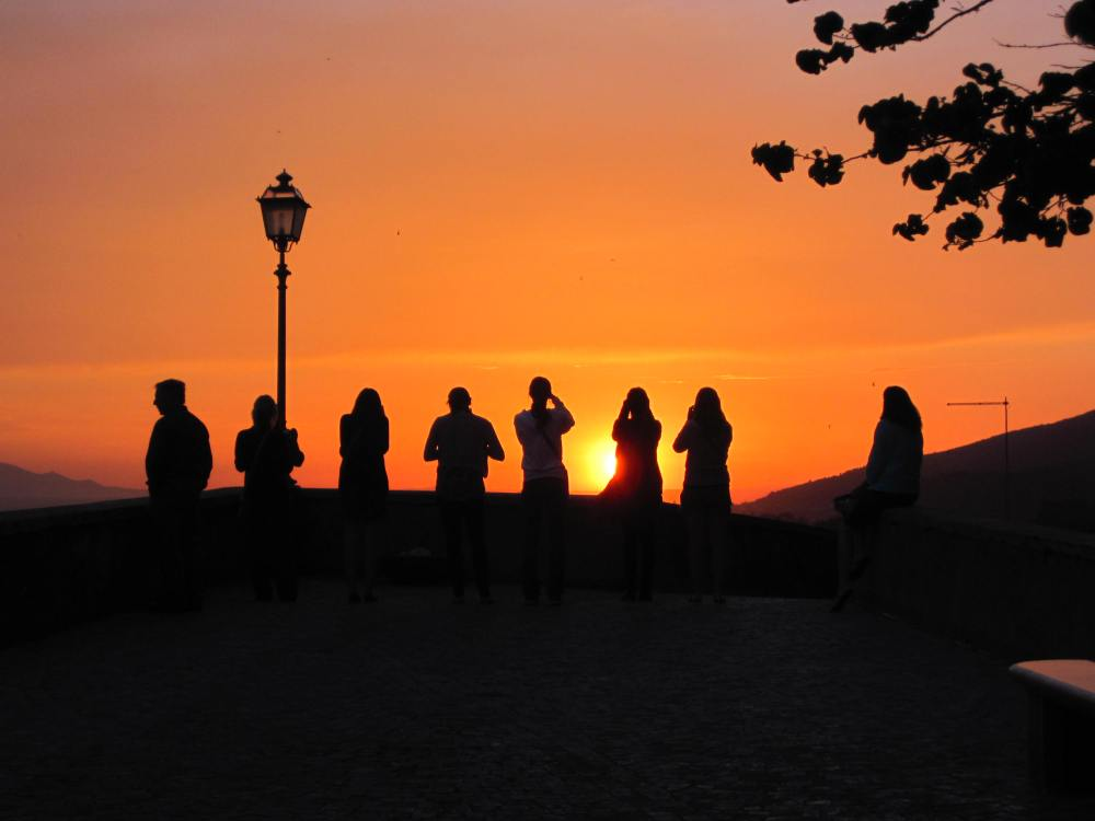 Rome, Italy at Sunset by Tanya Wolfe