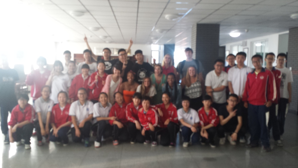 Inner Mongolia High School class and us