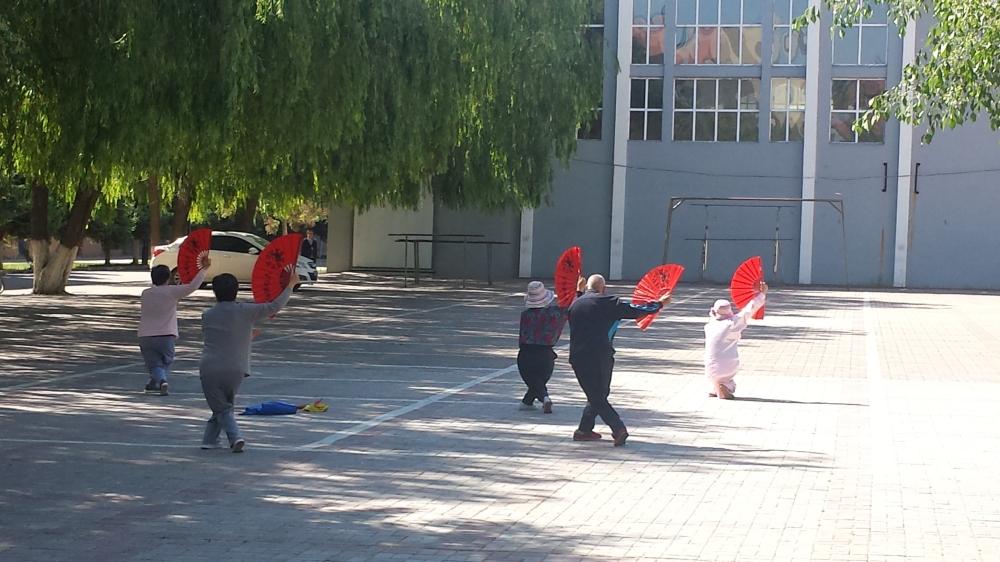 Exercise Dance in Square. Taken by Tamara Kay York