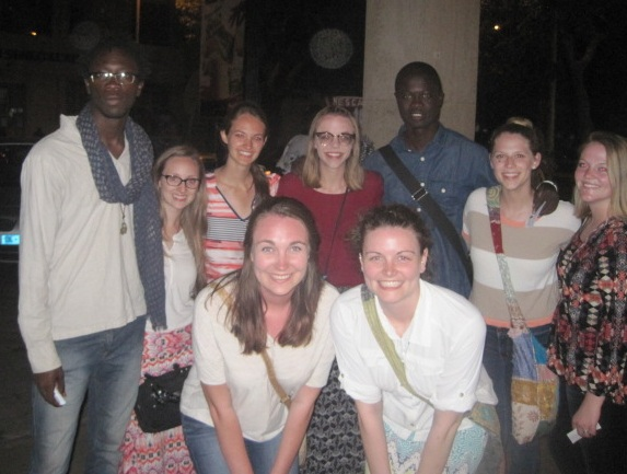 Senegalese and American friends
