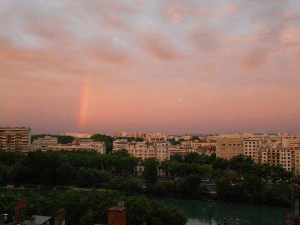 Rainbow after a storm in Lyon