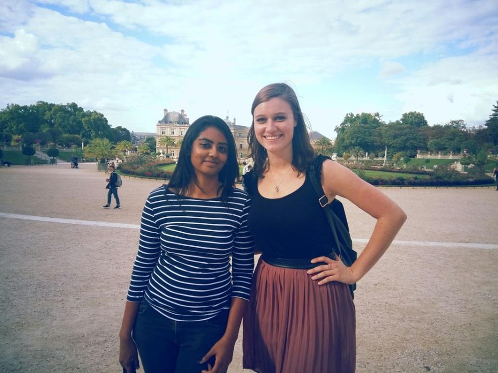 A friend and I in Paris