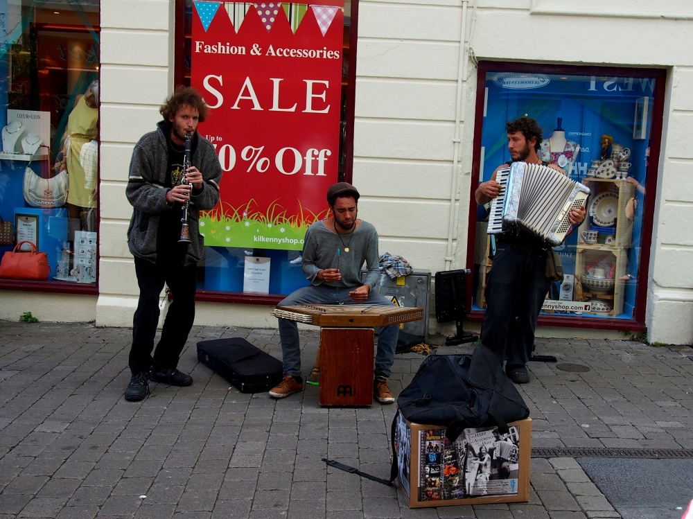 Street performers of Galway by Courtney Conrad. Program: CEA Non-WMU program Gaelic language in Ireland.