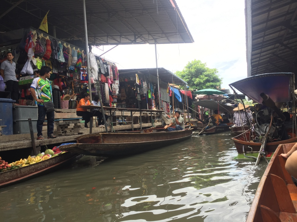 Floating market by Lynsey DeGraaf. Program: Global Business in Thailand.