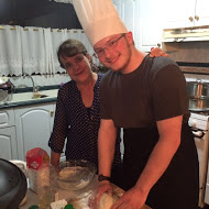 Making pizza with my host mom Photo Credit: Turner Slaughter, 2016