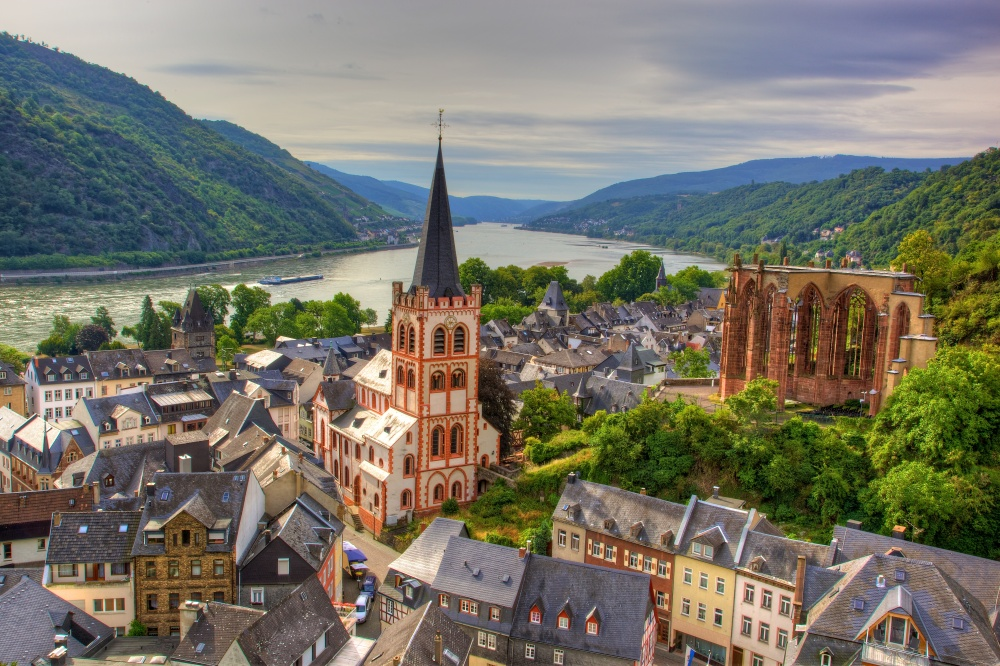 Bacharach, Germany Photo Credit: https://upload.wikimedia.org/wikipedia/commons/7/70/Bacharach_from_the_Postenturm.jpg