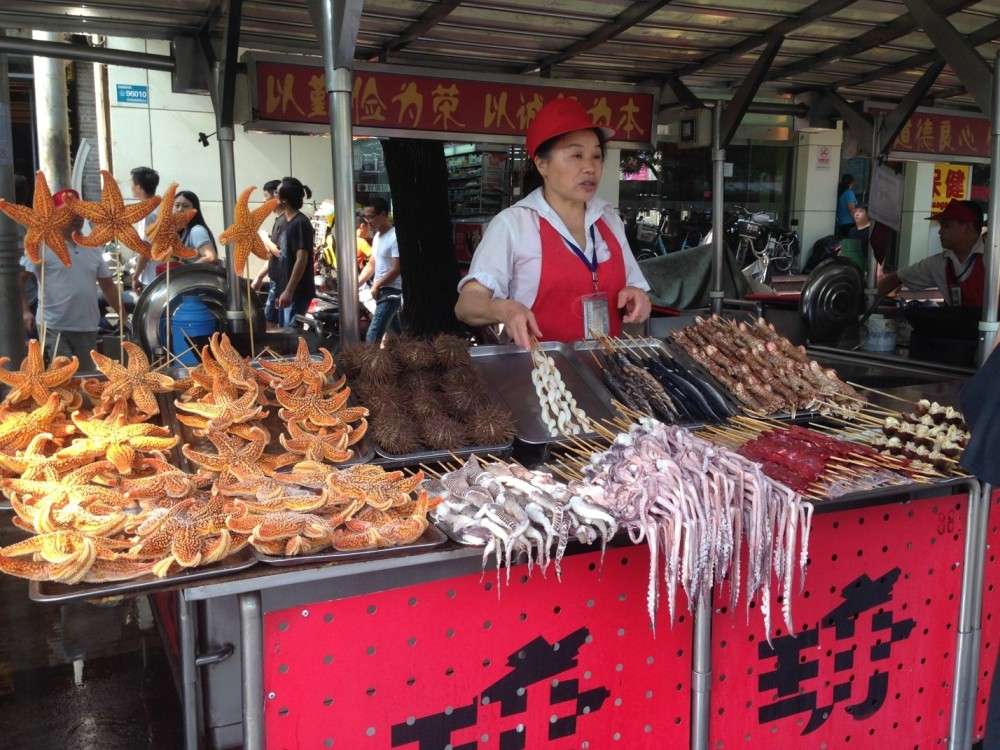 Last call for the market place - many exotic foods sold here Photo Credit: Jazmine King, 2016