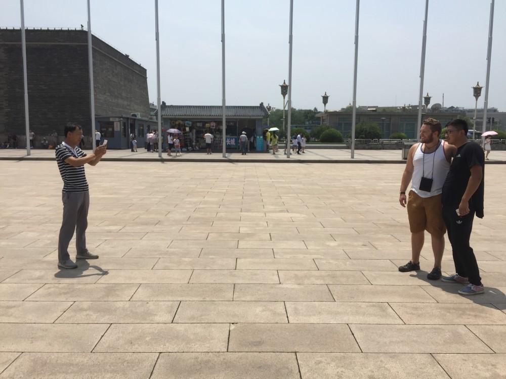 Tiananmen Square featuring Cody playing celebrity Photo Credit: Paulina Yu, 2016
