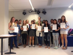 Group photo with our completion certificates after end of course