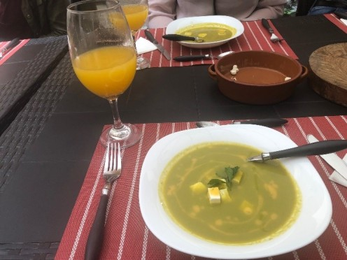This is a very common soup that Ecuadorians have as an appetizer called 'Locro', along with some fresh papaya juice. This has become my new favorite soup!